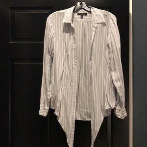 Banana Republic button up with front tie. Size S